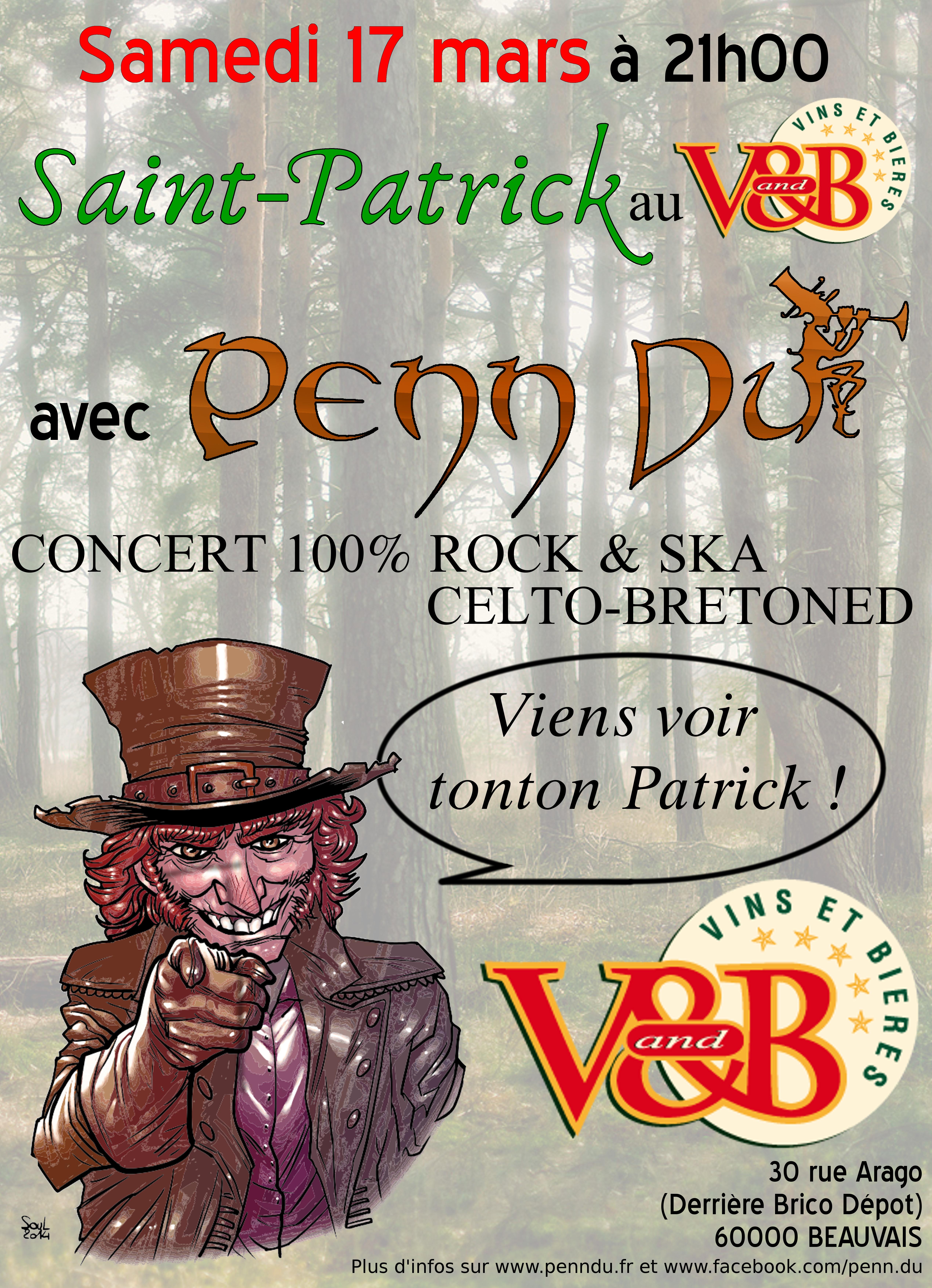 Affiche Concert Penn Du à Beauvais